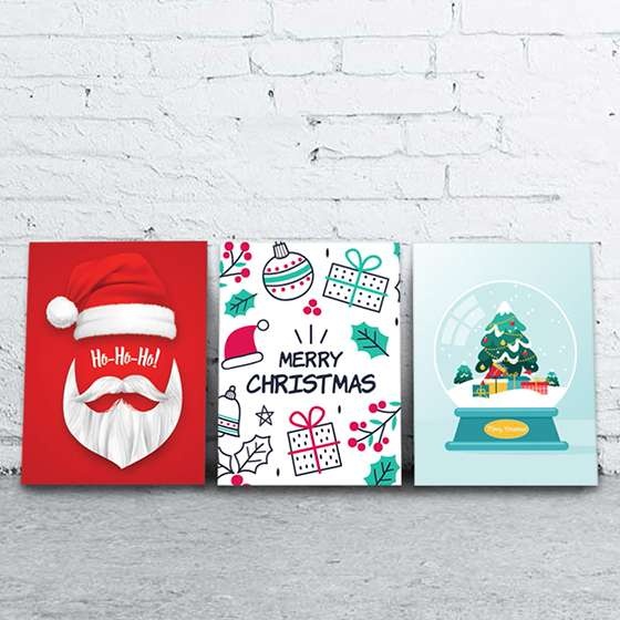 Quadro merry christmas natalino decorativo