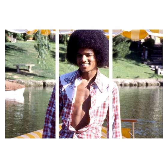 Quadro Michael Jackson anos 70 musica decorativo