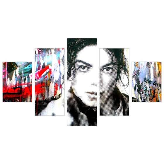 Quadro Michael Jackson arte abstrata decorativo