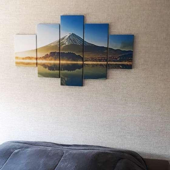 Quadro monte fugi paisagem decorativa