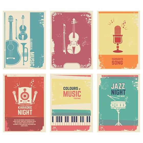 Quadro musica instrumento decorativo