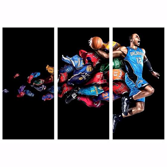 Quadro nba camisas de times decorativo