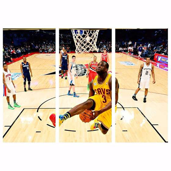 Quadro NBA LeBron James Para Decoraçao