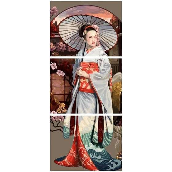 Quadro gueixa japonesa decorativo