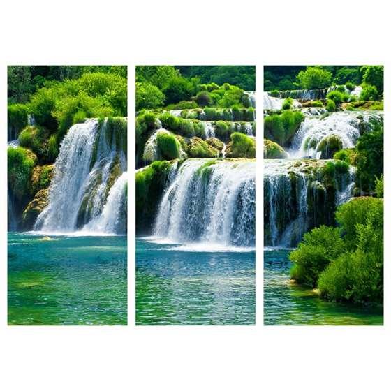Quadro paisagem cachoeira decorativa