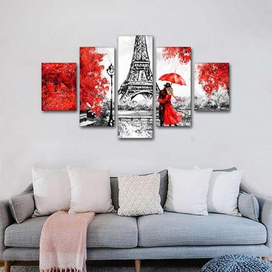 Quadro Paris Amor e Paixão