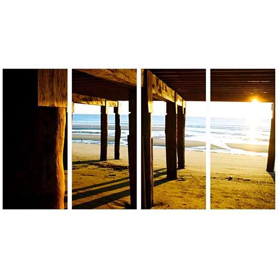 Quadro pier praia por do sol para decorar