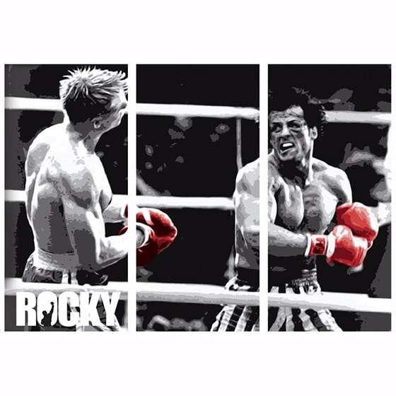 Quadro rocky balboa lutador filme para decorar