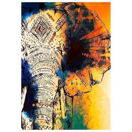Quadro Rosto elefante para Decoração de interiores