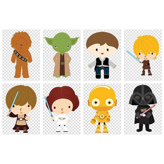 Quadro Star Wars Baby decorativo
