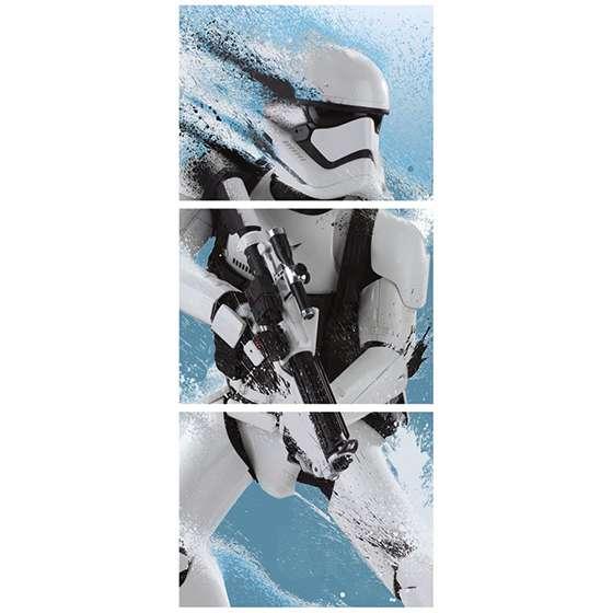 Quadro star wars stormtrooper  fundo azul decorativo