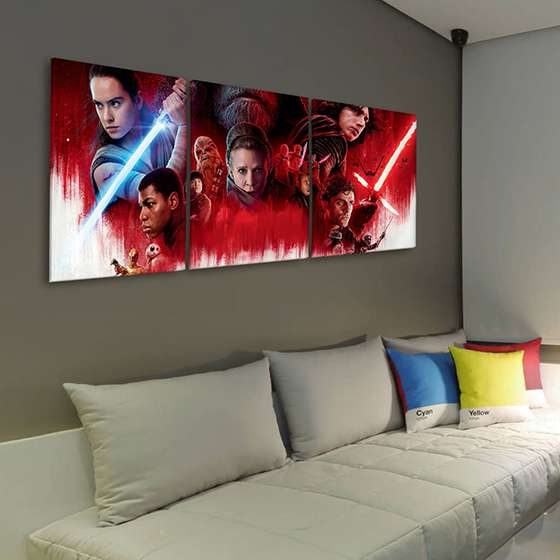 Quadro star wars ultimo jedi