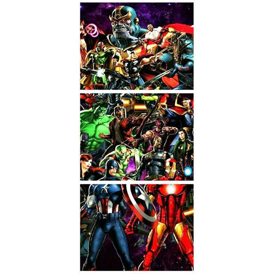 Quadro super herois marvel comics