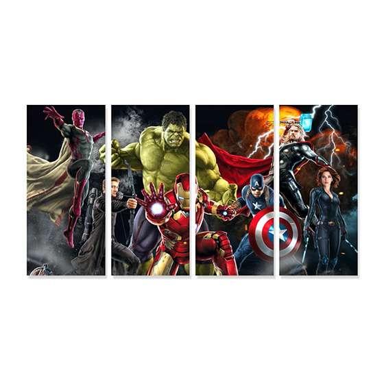 Quadro Vingadores Super Herois