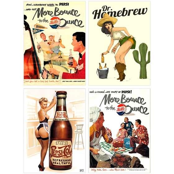 Quadros Decorativos Bebidas Bar Mulheres Para Interiores