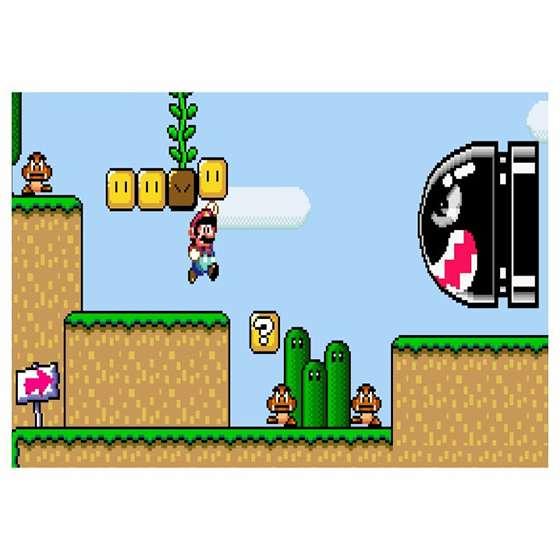 Quadro Game Super Mario Para Decoração Interiores