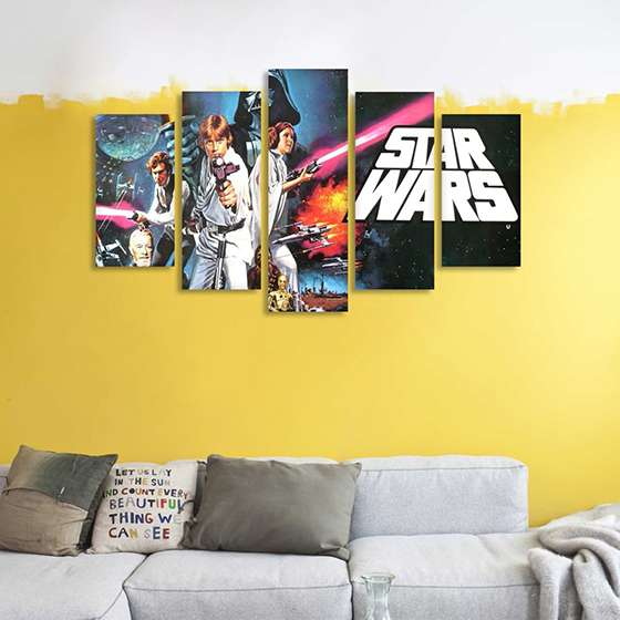 Quadro Star Wars Triologia Decorativo