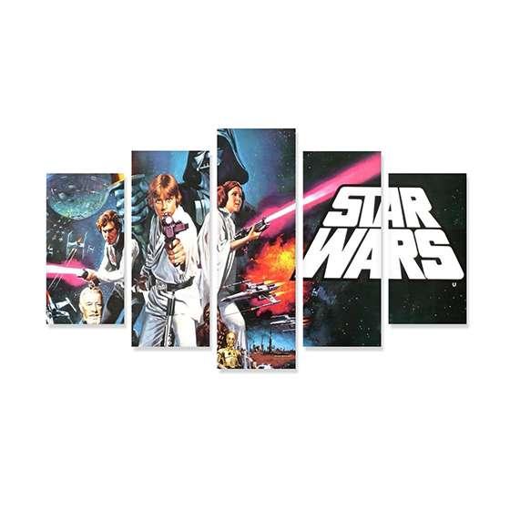 Quadro Star Wars Triologia Decorativo