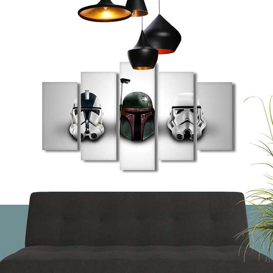 Quadros Star Wars capacetes