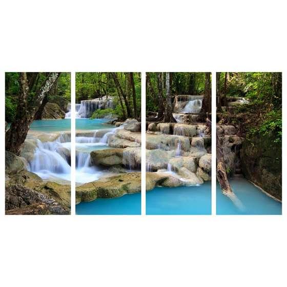 Quadro cachoeira paisagem decorativa