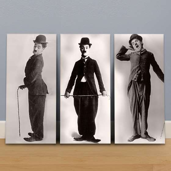 Quadro Charlie Chaplin Chapeu e Bengala
