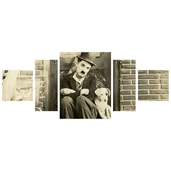 Quadro Charlie Chaplin Vida de Cachorro