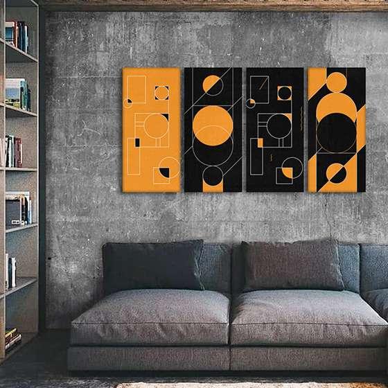 Quadro formas geometricas para decorar