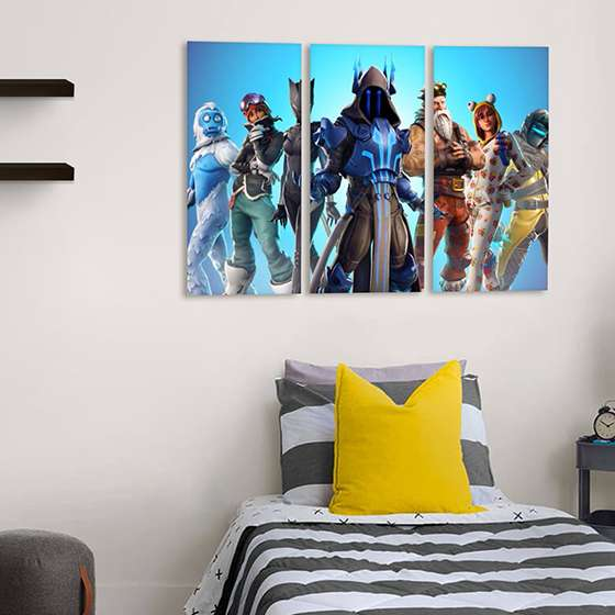 Quadro fortnite game para decorar