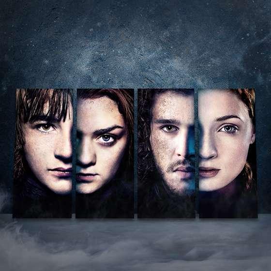 Quadro Game Of Thrones Filhos Starks