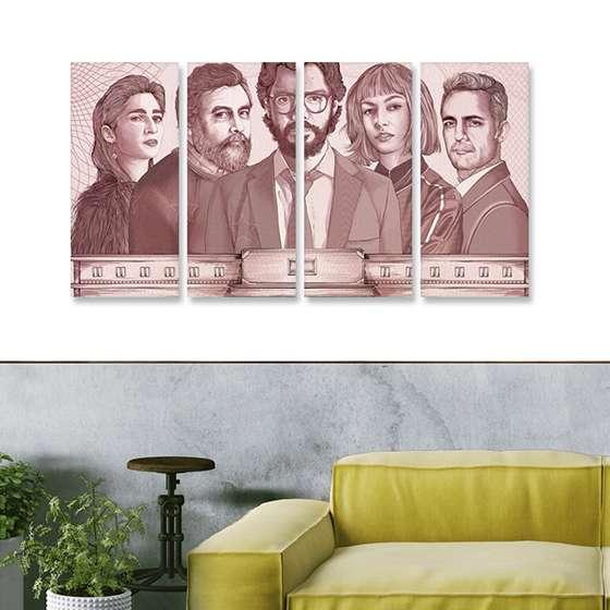 Quadro la casa de papel poster minimalista