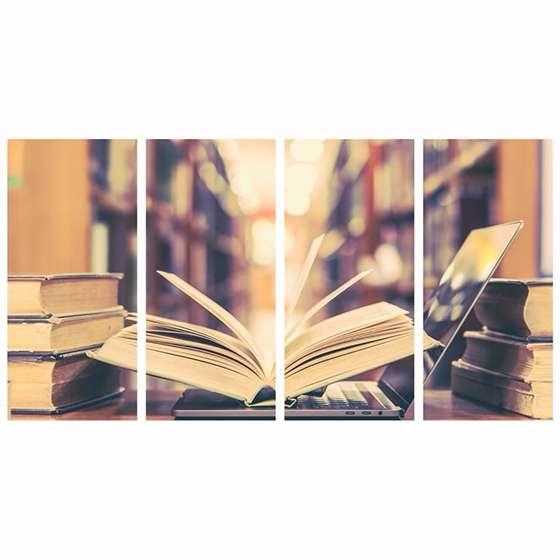 Quadro livros de estudos decorativo