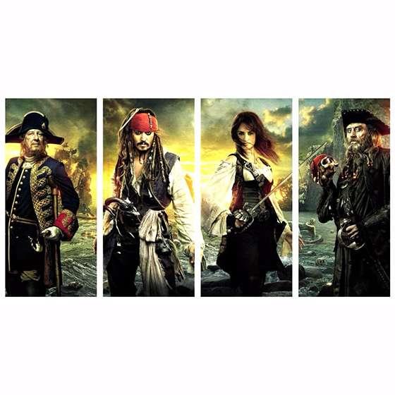 Quadro piratas do caribe navegando em aguas misteriosas decorativo