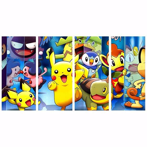 Quadro Pokemons Diversos Decorativo