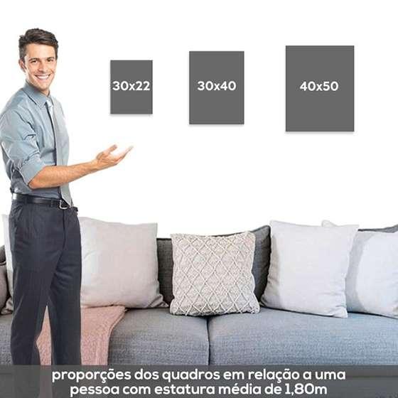 Quadros Escandinavos Dear Bed Decorativo