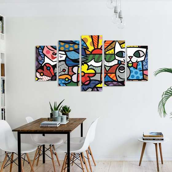 Quadro Romero Britto Garden Decorativo