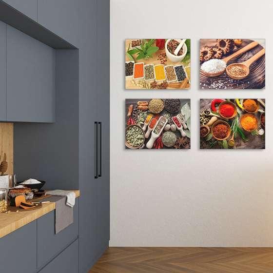 Quadro Decorativo Temperos Cozinha Para Pendurar